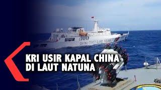 Detik-detik KRI Usir Kapal China di Laut Natuna karena Tangkap Ikan Ilegal
