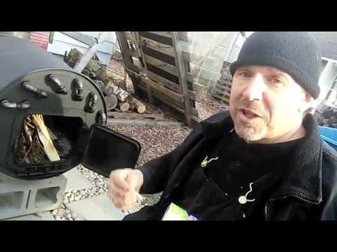 Wood burner hot water heater