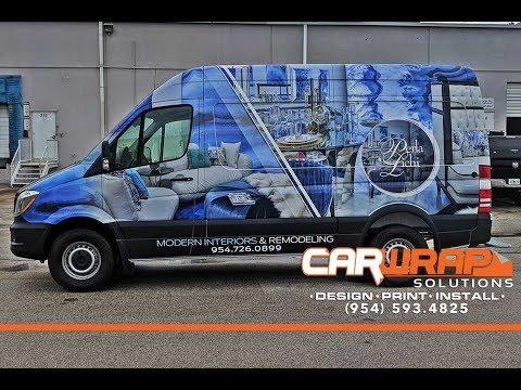 Small Business Local Marketing Coral Springs Florida | Sprinter Van Wrap Advertising For Perla Lichi