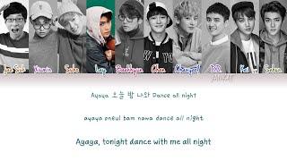 Download lagu EXO & Yoo Jae Suk (유재석) – Dancing King (Color Coded Han Rom Eng Lyrics)   by Yankat