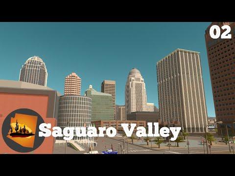 Downtown! - Cities Skylines: Saguaro Valley Ep. 2 |
