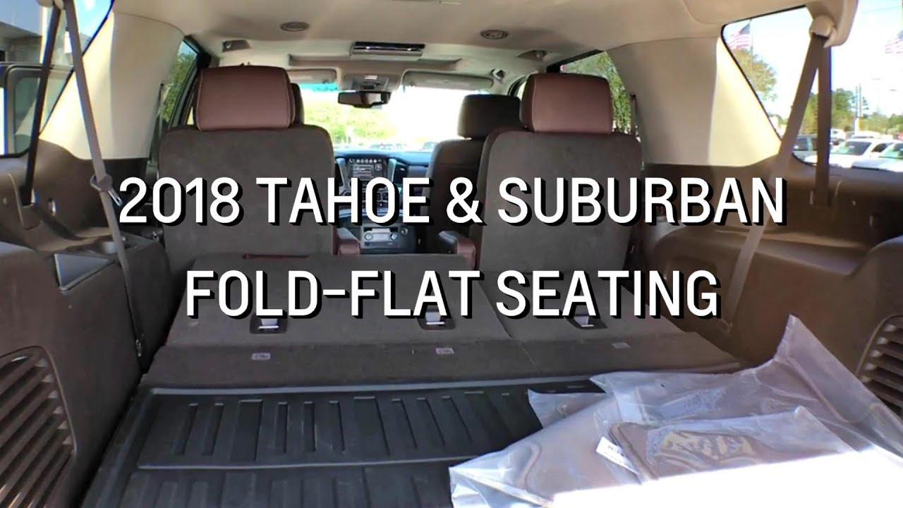 Chevy Suburban Seating >> 2018 Chevy Tahoe Suburban Fold Flat Seating Demo Youtube