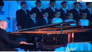 """شاهد.. عمر خيرت يعزف مختارات من أبرز مؤلفاته في """"افتتاح القناة"""""""