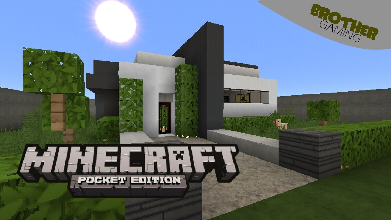 Simple modern house rumah inspirasi minecraft pe for Modern house minecraft pe