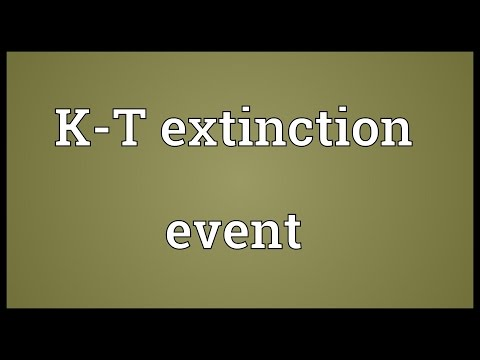 K-T extinction event Meaning