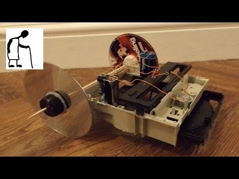 Things you can make from an old DVD drive #1 - Crawlerbot Inchworm