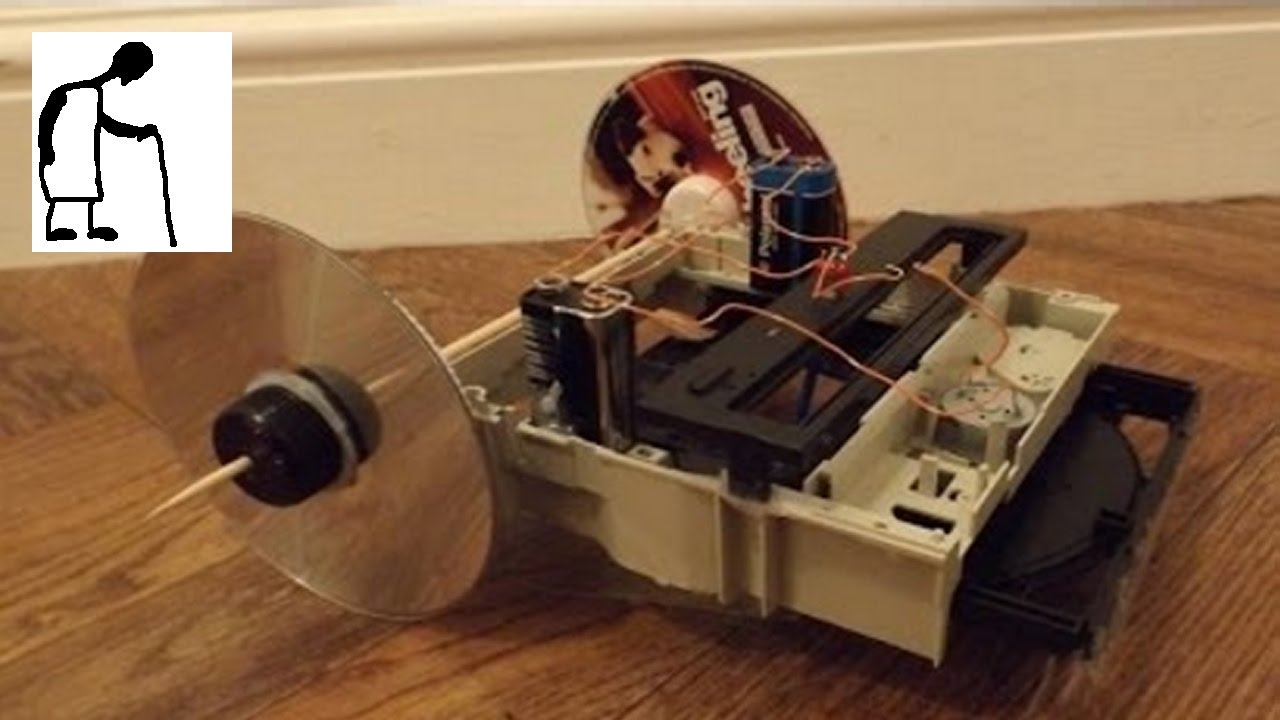 Things you can make from an old dvd drive 1 crawlerbot for How to make new things from old things