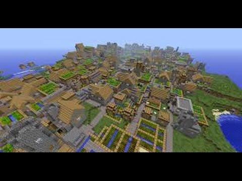 Minecraft pe village seed v0 9 5 youtube