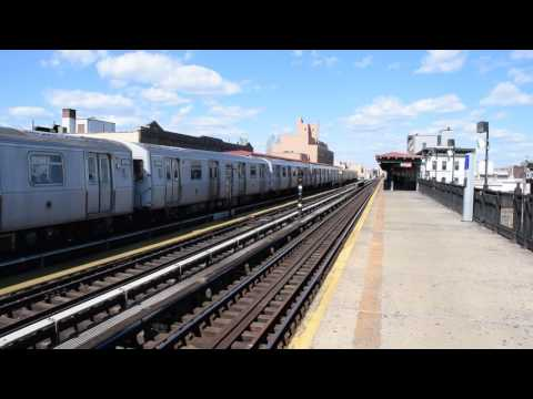 Astoria Line: Brooklyn bound N train via West End local at Broadway in Queens