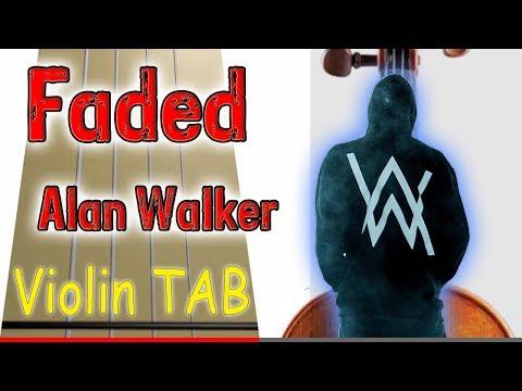 Faded - Violin - Play Along Tab Tutorial