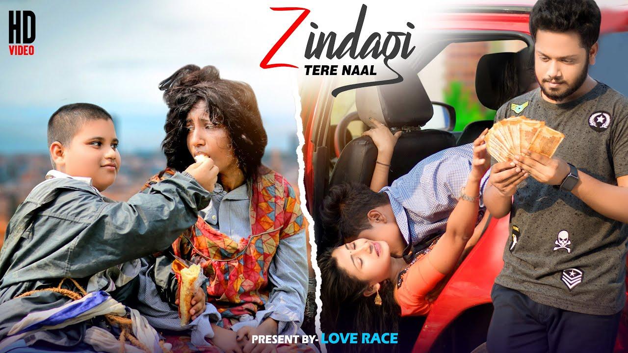Zindagi Tere Naal | Bewafa Love Story | Latest Punjabi Song | Khan S | Pav D | Hindi Song |Love Race