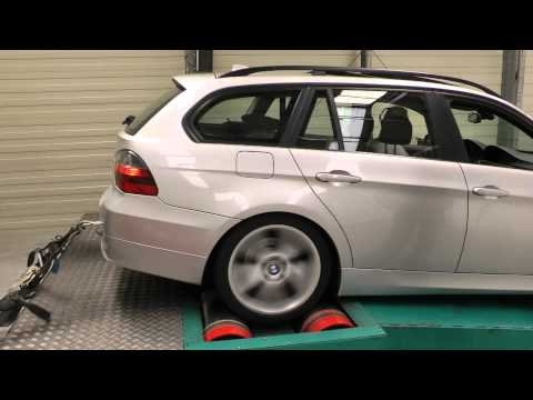 BMW 320d e91 - Tuning Factory Dynorun - Movie 2 of 3