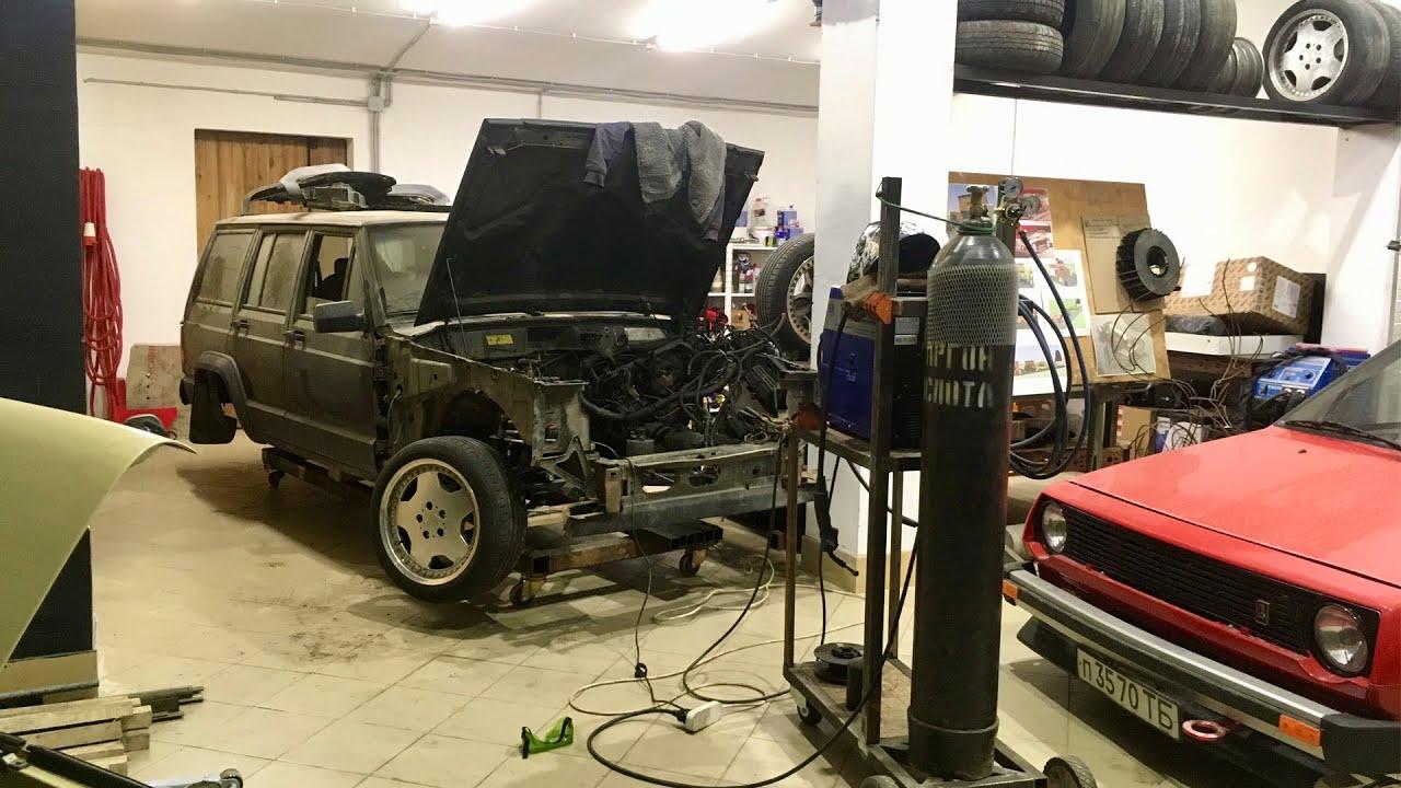 Jeep Cherokee stance. Передняя подвеска готова!!!