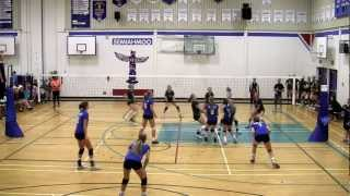 2012 BC Summer Games Indoor Girls Volleyball Finals - Zone 5 vs Zone 3 (Set 1)