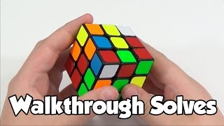 3x3 Walkthrough Solves | CFOP - White Cross | Cube Ed