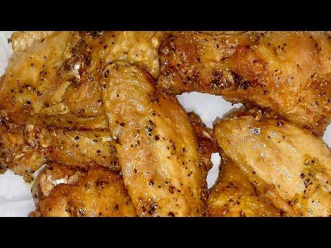 🍗Easy Baked Guilt Free Lemon Pepper Wings | Cooking w/ Ashley