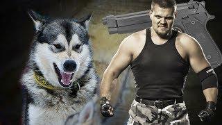 пьяный придурок направил пистолет на собаку / рассказ