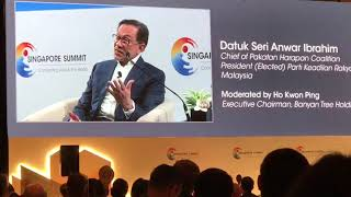Anwar talks about Mahathir at Singapore Summit 2018 2018 09 17 at 12 24 32 PM 1