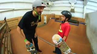 CAMPER TEACHES AARON RAMP ROLL INS!