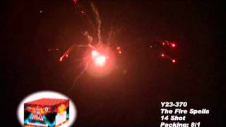 The Fire Spells Y23 370 Cannon Fireworks by Red Apple Fireworks