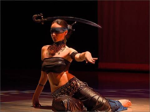 Irina Akulenko - 'Justice' from 'Tarot - Fantasy Belly Dance' DVD - WorldDanceNewYork.com