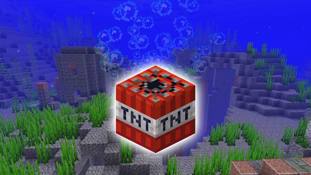 Wysadzanie TNT pod wodą - czy jest możliwe?   Minecraft #Shorts