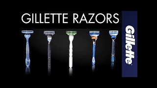 About Gillette Razor Technology: Razor Handle, Blade & Cartridge Features