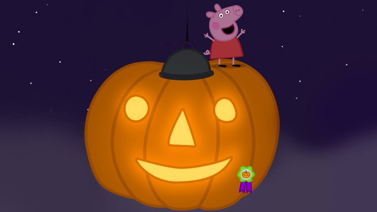Peppa Pig English Episodes - GIANT Halloween Pumpkin! - #078 - YouTube