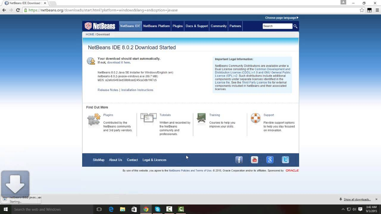 NetBeans IDE 8.2 Installation Instructions