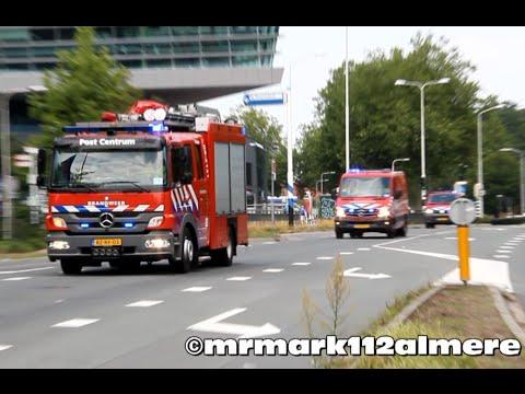 Veel Brandweer, Politie, KMAR En Ambulances Met Spoed In Nijmegen