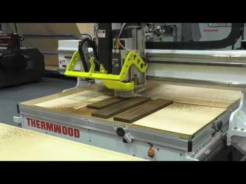 Thermwood Model 43 Machining Brazilian IPE Hardwood