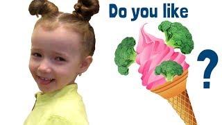 Do You Like Broccoli Ice Cream? Nursery Rhymes songs with Ulyana. Kindergarten food songs