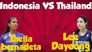 Indonesia VS Thailand lee da yeong volleyball highlights