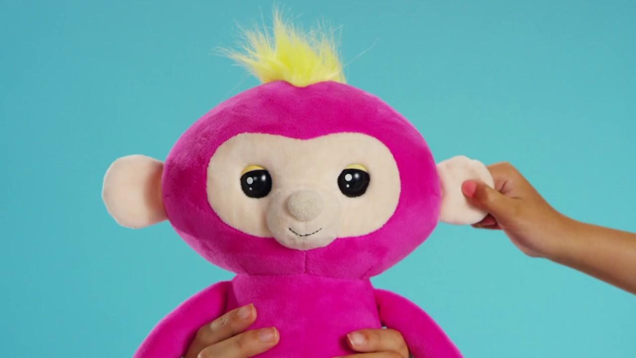 Pink Bella - Interactive Plush Monkey by WowWee Fingerlings HUGS