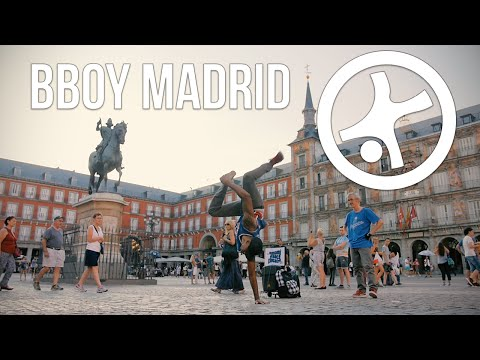 Bboy Street Performance & Hitting in Madrid, Spain w/ Kaos & Choco (Umami Dance Theater) | STRIFE