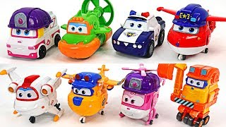 Go! Super Wings Season3 new friends! Police, construction, Rescue team robot transform! #DuDuPopTOY