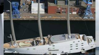 Russian billionaire's mammoth £360 million 'Sailing Yacht A' superyacht with masts taller than Big