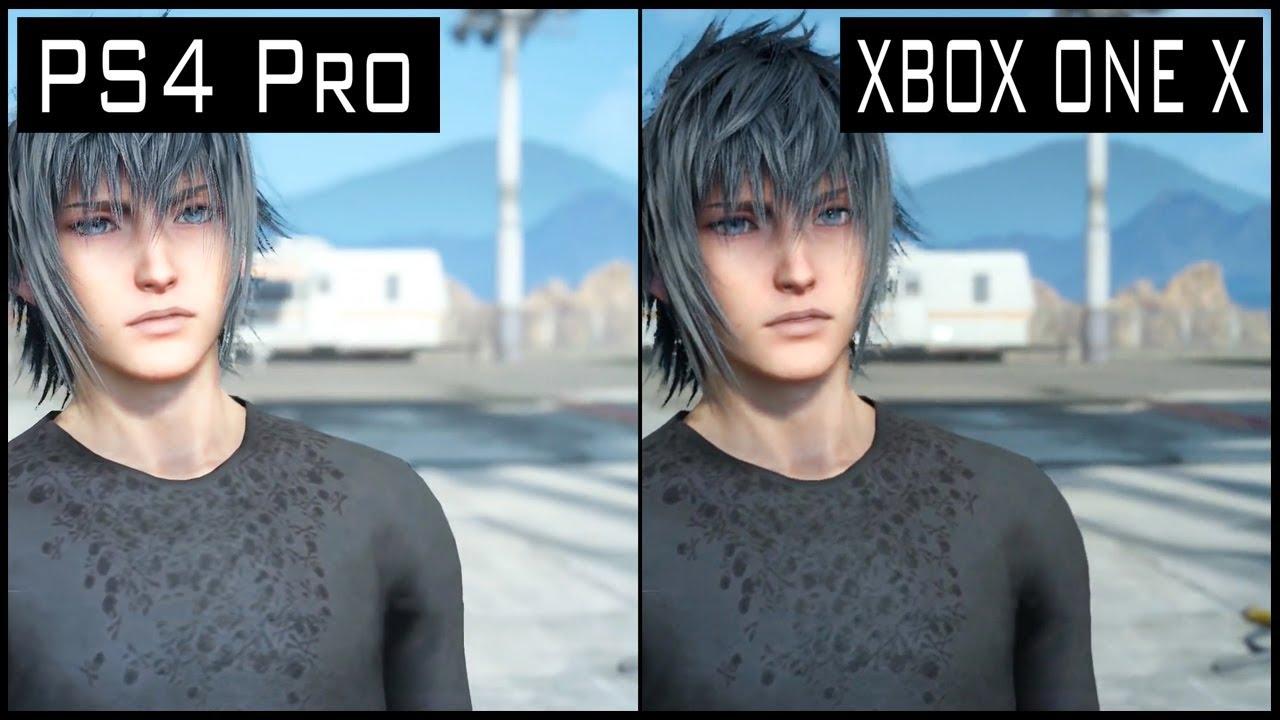 Final Fantasy 15 XBOX ONE X vs PS4 Pro Graphics Comparison ...Xbox One X Vs Ps4 Pro Graphics