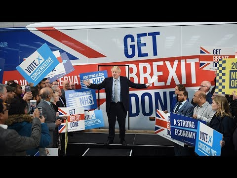 video: General election 2019: Boris Johnson dismisses Jeremy Corbyn's 'crazed Communist scheme' for broadband as he launches Tory battle bus - latest news