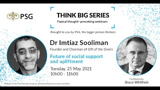 PSG Think Big Series: Future of social support and upliftment
