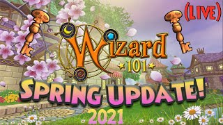 🔴 Wizard101: NEW SPRING UPDATES! 🔴 | Live (2021)