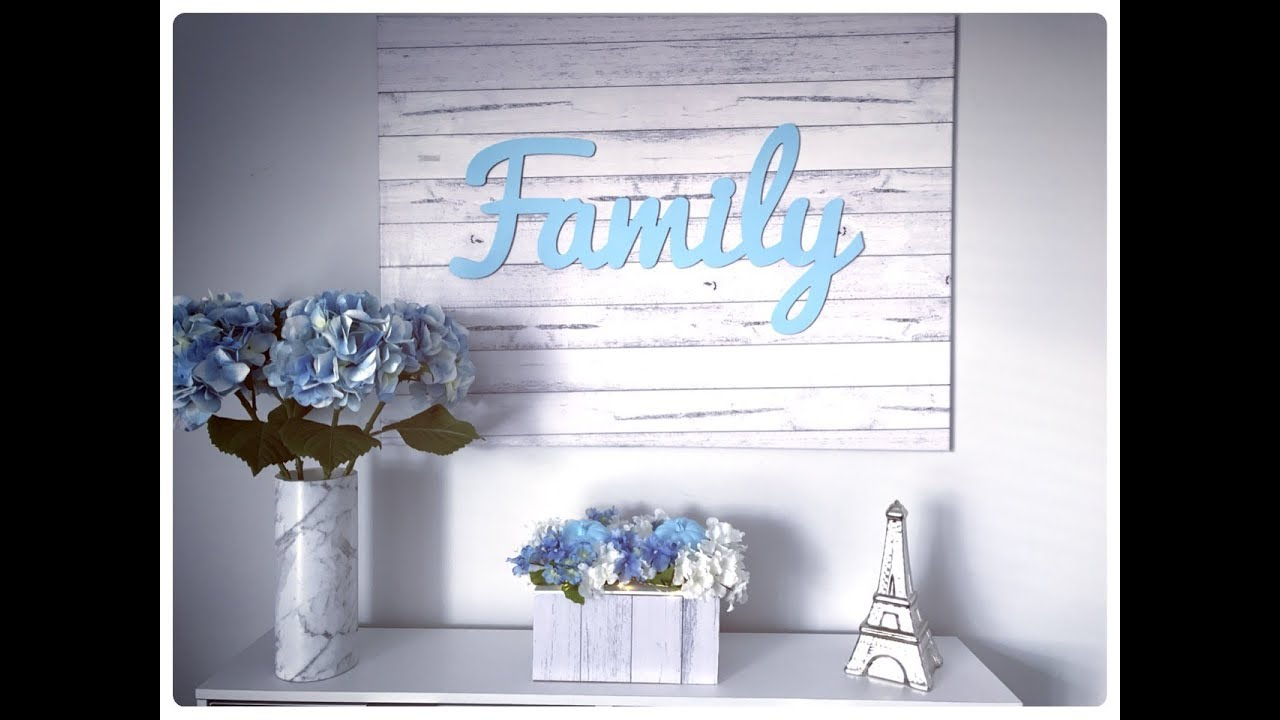 Kmart Canvas Printing Rustic Home Decor Diy Whitewash Canvas Kmart Hack