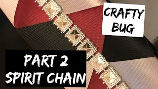 Spirit chain part2; finishing off the braid. Adding embellishments. Homecoming mum tutorial