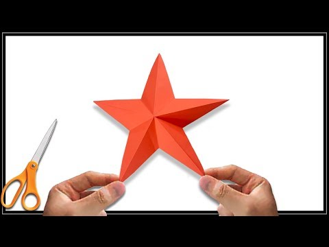 How to make simple & easy paper star | DIY Paper Craft Ideas ⭐ | how to make paper star easy