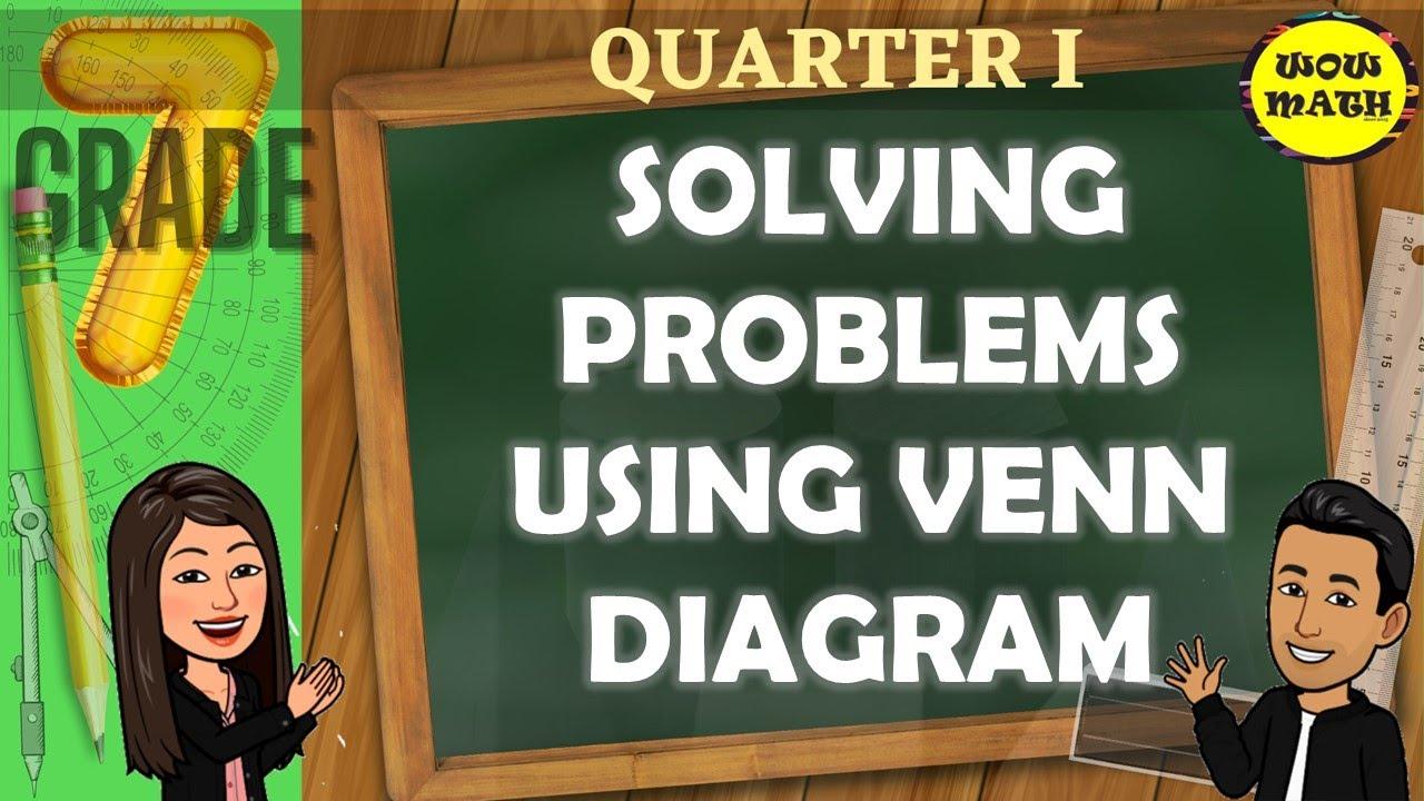 Solving Problems Using Venn Diagram Grade 7 Mathematics Q1 Youtube