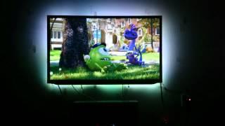 DIY Ambilight: Raspberry Pi Raspbmc + boblight + LED Strip (70 LEDs) (Fixed colors)