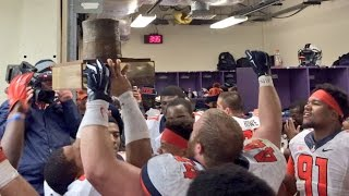 Illini Sing Illinois Loyalty in Locker Room after Northwestern Win 11/29/14