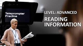 Telepompter / Autocue reading practice - advanced.