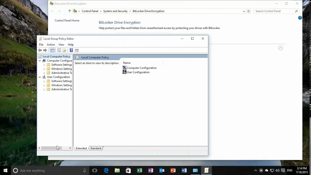 Windows 10 - Enable bitlocker without TPM