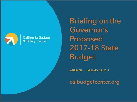 Webinar Briefing on the Governor's Proposed 2017-18 State Budget